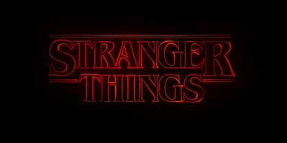 stranger things logo featuring the benguiat typeface font