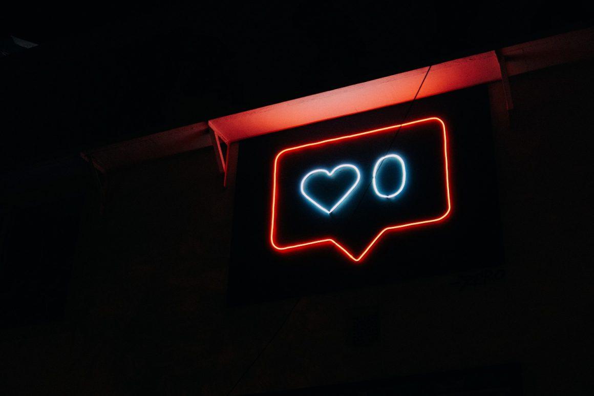 neon image of zero likes