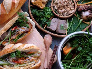 Fusion cuisine banh mi Vietnamese sandwiches