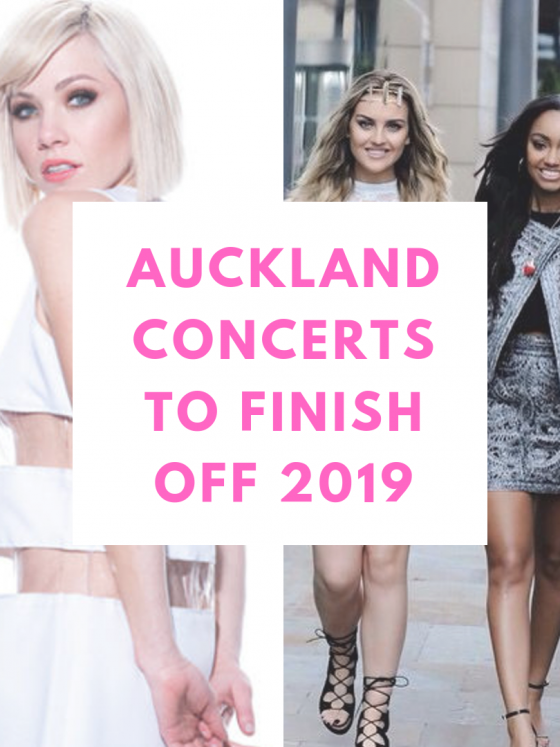 poster of auckland concerts for 2019, with khalid, carly rae jepsen, little mix and shawn mendes