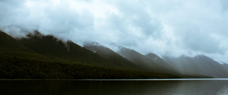 saint arnaud range, lake rotoiti, new zealand